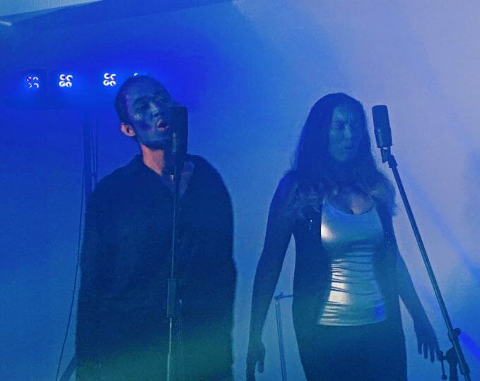 "Justin and Shessi performing for ""Lost In Love No More"", a new album by STB - a canadian singers and bands"